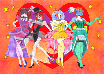 Moulin Rouge sisters by S-Moonshadow