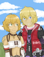 shulk and fiora by magevincent