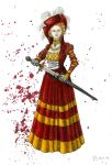 Blood and Gold Cranach Dress by Yosephyne