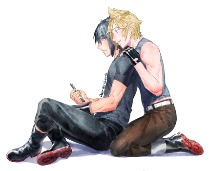 [FFXV] playing together by viiviiviis