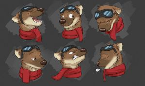 Commission: Aiden's Expression Sheet by Temiree
