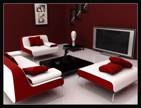 Clean Room-Red Colour Scheme by fais3000