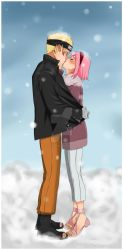 Narusaku-Winter by Hitori-chandesu