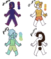 Cheap!Color palette Adopts {2/4 open} by Llama-Bean