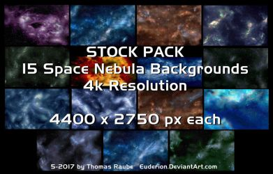 15 Space Nebulas - Stock Pack by Euderion