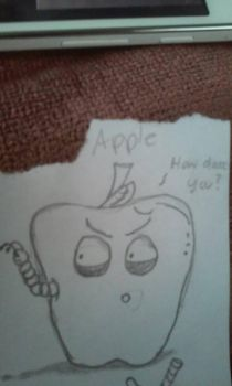 The Angry Apple by FlawdArtwork