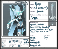 Lockette Relationship Form: Momo-Chan by SkeletalK