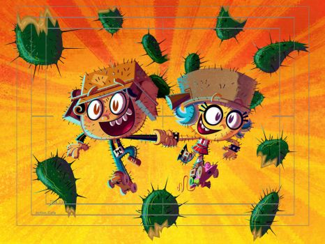 Manny and Frida in skates by mexopolis