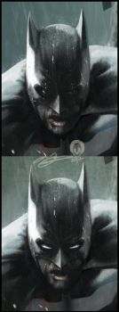 Batman Faces Close-up by AndyFairhurst