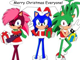 A Sonic Underground Christmas by SuperSentaiHedgehog