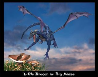 Little Dragon or Big Mouse by DarkwolfUntamed