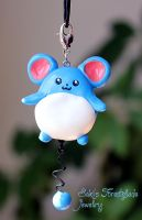 Marill Pokemon Fanart Necklace