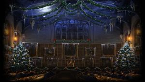 Pottermore Background: Great Hall at Christmas #3 by xxtayce