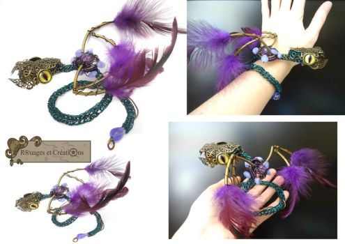Snake wings occamy color bracelet by Rouages-et-Creations