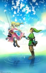 sw link and zelda by muse-kr
