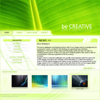 be CREATIVE - Layout by CJ-FALCON