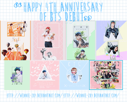 //13062017// HAPPY 4TH ANNIVERSARY OF BTS DEBUT by Niee1830