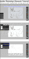 Adobe Photoshop Elements Tutorial: Lineart/ Color by painted-flamingo