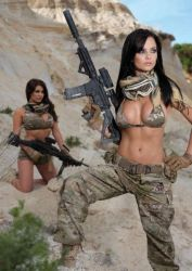 Girls and Guns by combat008