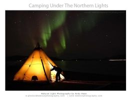 Camping Under The Aurora by andykeen