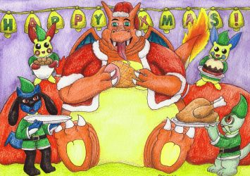 A Fat Charizard Christmas by NobrisAgni