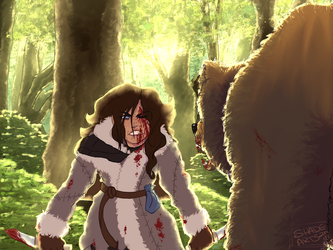 [R+W] A Grizzly Battle by Shade-Arts