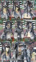 Wasteland Wolf Mask/ Headdress  (SOLD) by Magpieb0nes