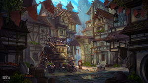 MEDIEVAL FRIENDSHIP - Fantasy Environment Concept by Byzwa-Dher