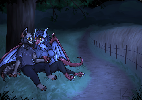 Nightime - [Commission] by FluffZee