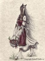 Anthro Horse with Basket by RussellTuller