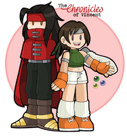 Vincent and Yuffie by DoubleLeggy