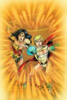 Wonder Woman and Powergirl by battle810