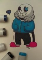 Inktober Day 9: sans. by Animals4Eva
