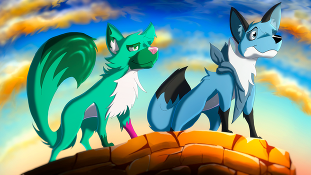Gift for JC and Quiffley (Plus Speedpaint!) by EpicSaveRoom