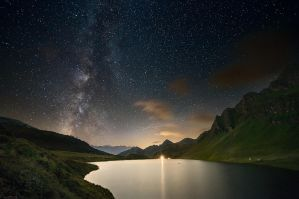 Cadagno under the Milky Way by Ganjalvi