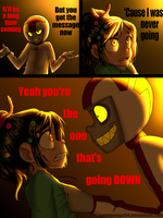 You're going down by TopHat-Zombie