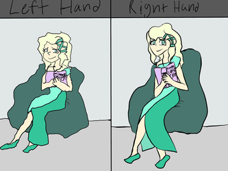 Right Hand vs Left Hand by BluiepieMLP