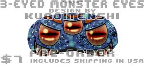 3-Eyed Monster Eyes Sleeping Mask Design by kuroitenshi13