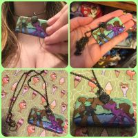 ( MLP ) Pony Couple Commissioned Necklace by KrazyKari