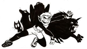 Inktober 2014 :: Day 2 - Beast Boy by Spectrumelf
