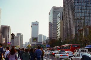Gwanghwamun: Cities Are Meant To Be Crossed by neuroplasticcreative