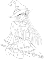 Witch lineart by patttyy