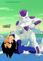 Frieza vs Vegeta by kingvegito