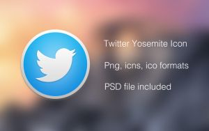 Twitter OS X Yosemite Icon by rkRusty