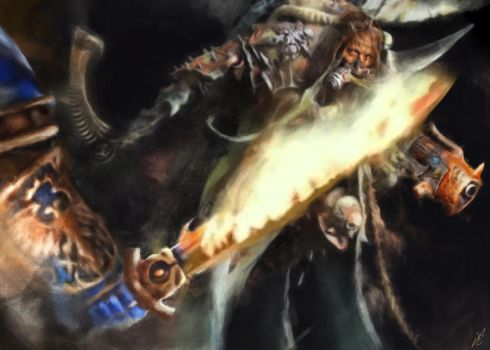 Mortarion vs Roboute Guilliman by FredrikEriksson1