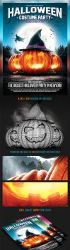 Halloween Party Flyer v.2 by saltshaker911