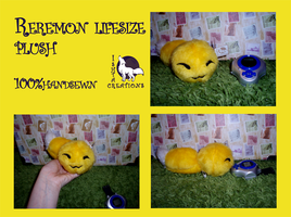 Reremon lifesize plush SOLD, accepting commissions by Ishtar-Creations