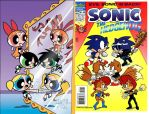 two comics with identical covers by suparmarkeogai996