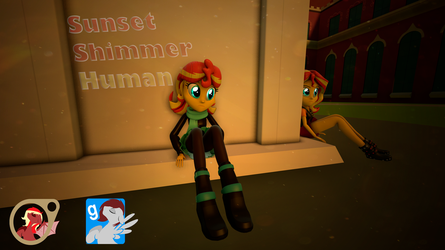 [EqG] Human Sunset Shimmer [SFM] [Gmod] by EmpireOfTime