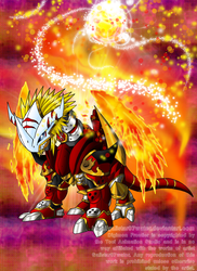 The Ancient Warrior of Flame by Galistar07water